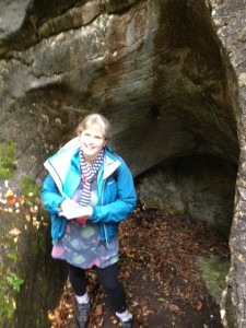 A mysterious cave, at exactly the right time of year! (And it was raining, which is the best weather for the monster who might live here...)
